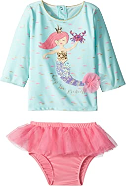 Mermaid Two-Piece Rashguard Swimsuit Set (Infant)