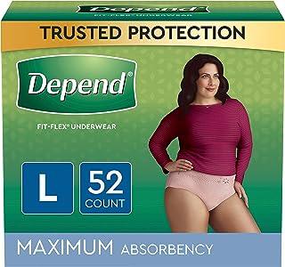 بستن لباس زیر زنانه FIT-Flex برای زنان، حداکثر جذب، L، Tan، 52 Count