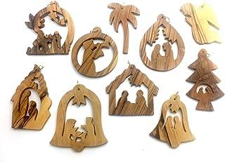 Olive Wood Ornament - Set of 10