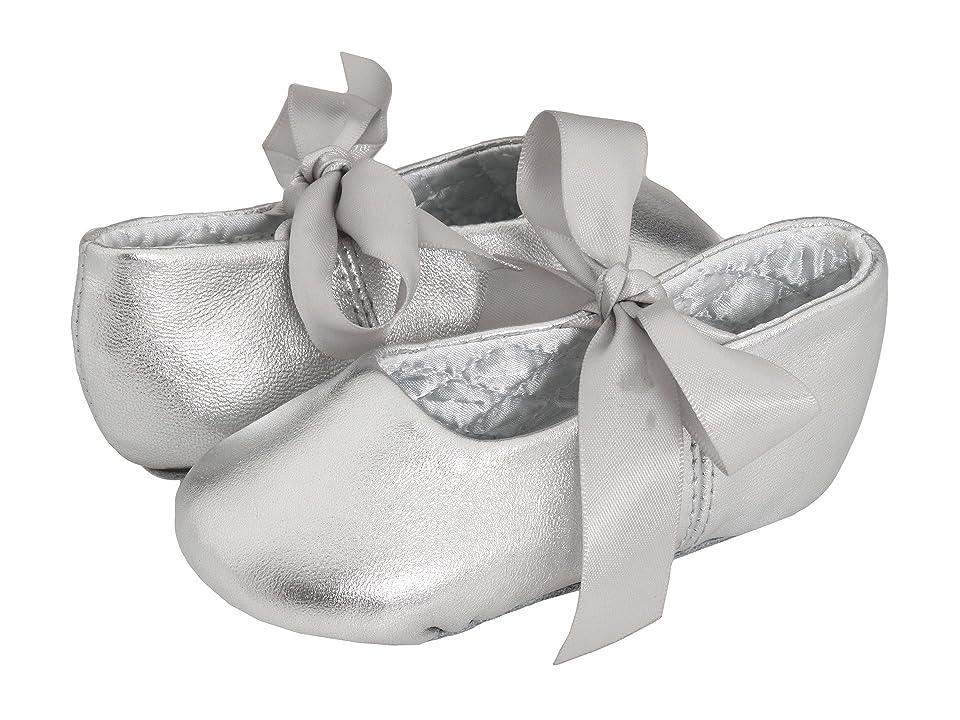 Baby Deer Sabrina Ballet 2 (Toddler/Little Kid) (Silver Leather) Girl