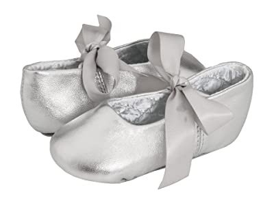 Baby Deer Sabrina Ballet 2 (Toddler/Little Kid) (Silver Leather) Girl