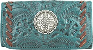 Lariats & Lace Leather Tri-Fold Wallet