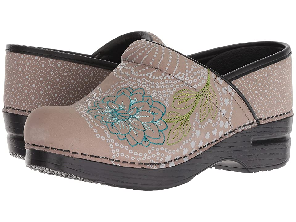 Dansko Embroidered Pro (Taupe Milled Nubuck) Women