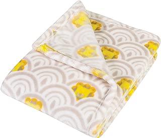 Trend Lab Plush Baby Blanket, Gray Art Deco Lions Scallop