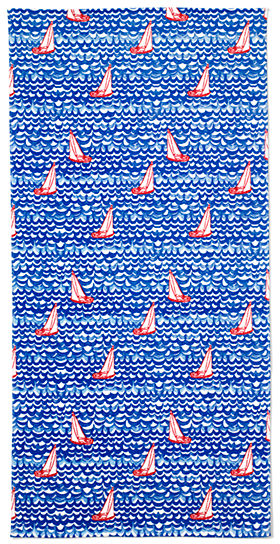 Adult Printed Velour Beach Towel from Lands' End