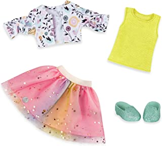"Glitter Girls by Battat - Shimmer Glimmer Urban Top & Tutu Regular Outfit - 14"" Doll Clothes & Accessories For Girls Age 3..."