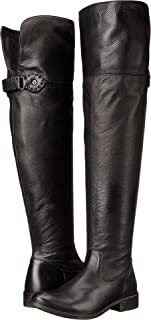 FRYE Women's Shirley Over-The-Knee Wide Black Smooth Vintage Leather Extended 7 B US