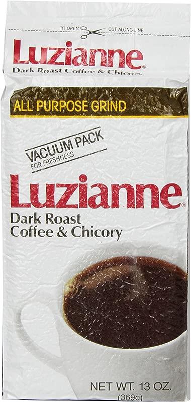 Luzianne Dark Roast Coffee Chicory 13oz Pack Of 4