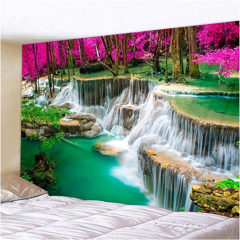 Tapestry 3D Gifts Beach Towel Waterfall Bargain sale Beautiful Forest Str Landscape