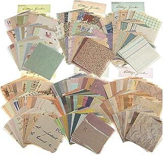 Papier Cartonné Vintage Scrapbooking,360 Feuilles Papier Décoratif Scrapbooking,Imprimé d'un Seul Côté,Pour Décoration Bri...