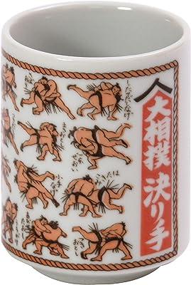 山志製陶所 湯呑 ものしりシリーズ 大相撲決り手 K3-27