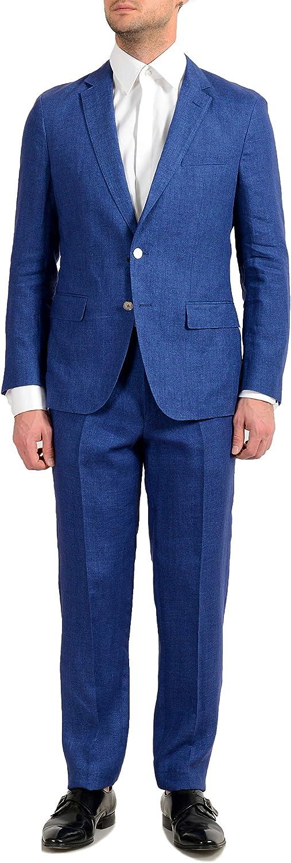 Hugo Boss Helford/Gander3 Men's 100% Linen Slim Two Button Suit US