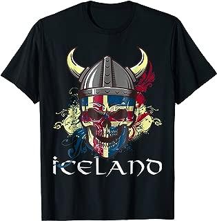 Iceland Soccer T-Shirt, 2018 Football Team Skull Jersey