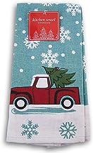 Seasonal Decor Cotton Kitchen Towel - 15 x 25 Inches (Christmas Truck)