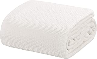 "Crover All Season Waffle Premium Thermal Blanket Twin Size 66""x90"" Durable Soft Cozy Breathable Weave Design 100% Cotton, Ivory"