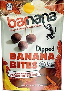 Barnana Organic Chewy Banana Bites - PB Cup - 3.5 Ounce, 12 Pack Bites - Delicious Potassium Rich Banana Sn...