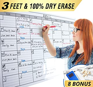 Dry Erase Monthly Laminated Jumbo Whiteboard Calendar, 25