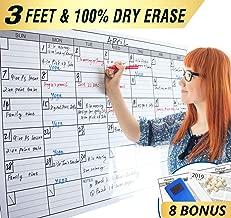 Dry Erase Monthly Laminated Jumbo Whiteboard Calendar, 25