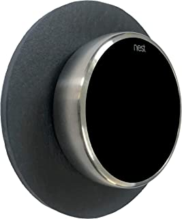 SLATE WALL PLATE FOR THE NEST THERMOSTAT 5 INCH DIA BLACK SLATE STONE