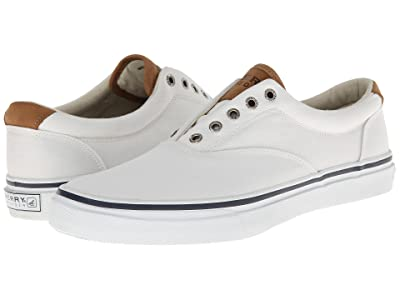 Sperry Striper CVO Salt-Washed Twill (White) Men