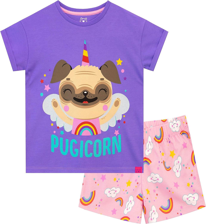 Harry Bear Pijamas para niñas Pug Unicornio