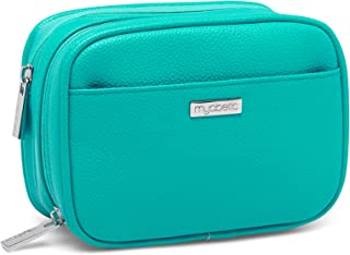 Myabetic Clark Diabetes Supply Case for Glucose Monitoring Tools, Includes Insulation Lining - High Quality Material (Turquoise Green)