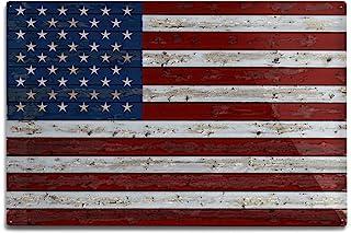 35625c72b2ec Lantern Press Distressed American Flag (12x18 Aluminum Wall Sign
