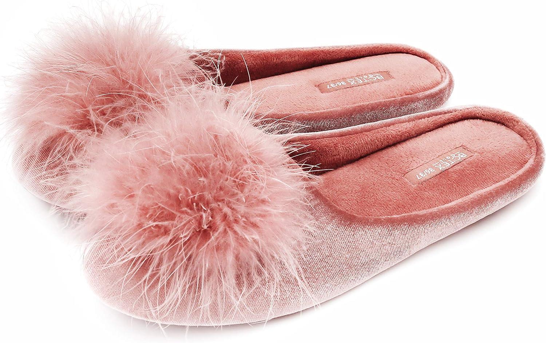 BCTEX COLL Women's Cozy OFFicial store Velvet Slipper Foam Memory House Ladies Sale Special Price