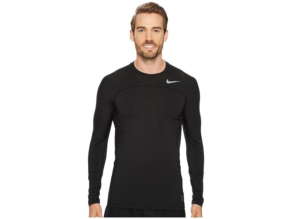 Nike Pro Hyperwarm Long Sleeve Top (Black/Cool Grey/Cool Grey) Men