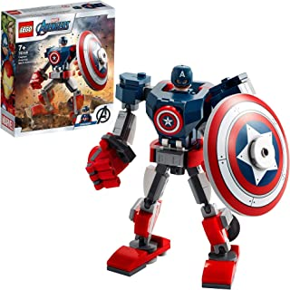 LEGO 76168 Marvel Avengers Captain America Mech Armour Set, Action Figure Toy for 7+ Years Old Boys and Girls