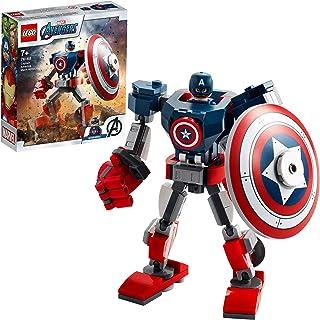 LEGO 76168 MarvelSuperHeroes L'ArmureRobotdeCaptainAmerica Jeu incluant Figurine pour garçons et Filles de 7 Ans et ...