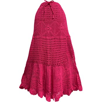 Girls Skirt Crochet Maxi Lace Hem Fashion Crinkle Pleated Stretch 3 to 4 Years