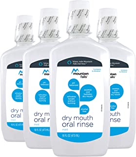 Mountain Falls Dry Mouth Oral Rinse, Mint, 16 Fluid Ounce (Pack of 4)