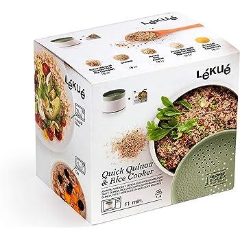Lékué Recipiente para cocinar Quinoa, Arroces y Cereales, 1 Litro: Amazon.es: Hogar