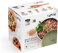 Lékué Recipiente para cocinar Quinoa, Arroces y Cereales,