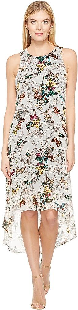 Butterfly Hi-Lo Hem Dress