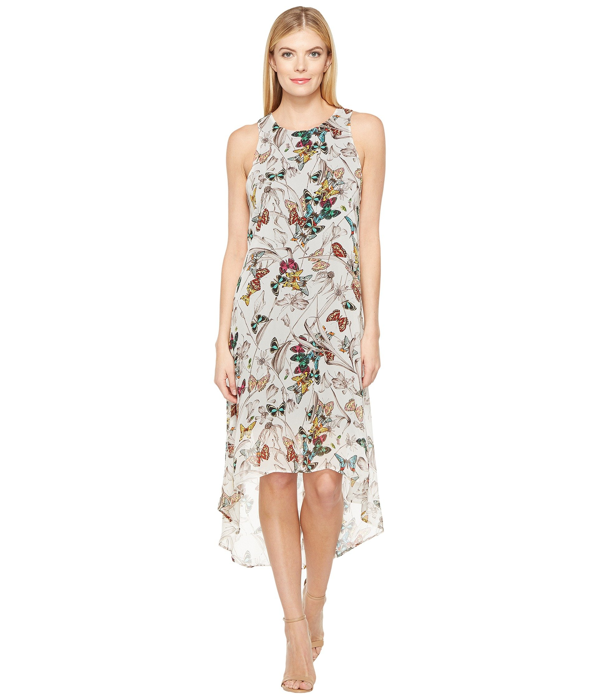 Butterfly Hi-Lo Hem Dress