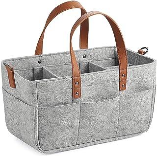 TOOGOO Baby Diaper Caddy Organizer Portable Holder Shower Basket Portable Nursery Storage Bin Car Storage Basket for Wipes...