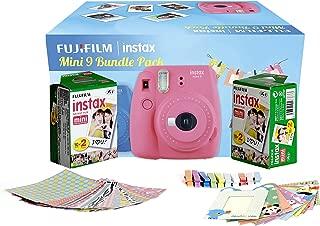 Fujifilm Instax Camera Mini 9 Bundle Pack with 40 Films Shot Free (Flamingo Pink)