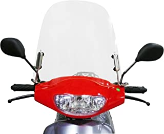 MMG Scooter Windshield Transparent Acrylic (3mm Thick) Comes with Mounting Hardware