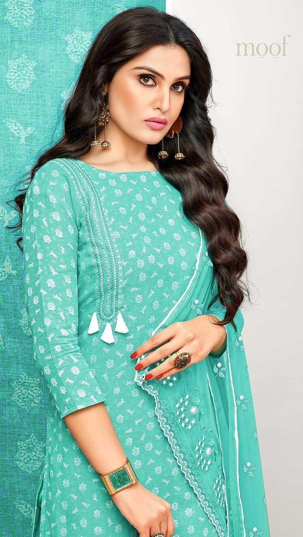 shopNstyle Ready to Wear Indian Pakistani Ethnic Wear Straight Salwar Kameez Churidar Suit for Womens
