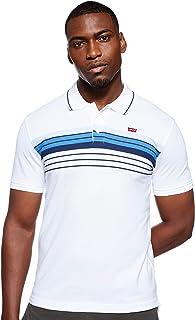 قميص بولو بكم قصير وزر امامي ومقاس قياسي مزين بالعلامة التجارية للرجال من ليفايس