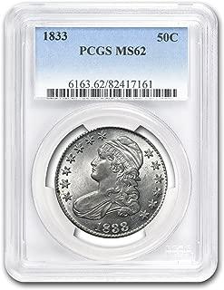 1833 Capped Bust Half Dollar MS-62 PCGS Half Dollar MS-62 PCGS