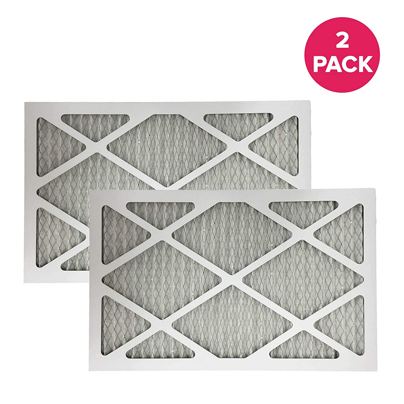Think Crucial 2 Replacements for 12x24x1 MERV 11 Pleated Allergen Air Furnace and Air Conditioner Filter