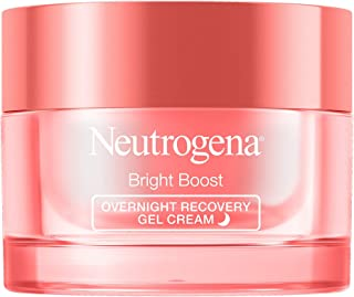 Neutrogena Bright Boost Overnight Recovery Gel Cream with Neoglucosamine, Brightening Nighttime Moisturizer, Oil-Free & No...