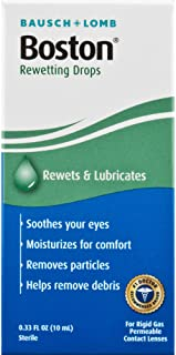 Contact Lens Solution by Boston, Rewetting Solution for Gas Permeable Contact Lenses, 0.33 Fl Oz