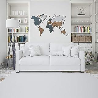 Detalles Creativos - Mapamundi Decorativo Para Pared. Distintos tamaños. Mapa del Mundo Ideal Para Interiores. Fácil coloc...