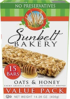 Best Sunbelt Bakery Oats and Honey Chewy Granola Bars Value Pack (15 Count) Review