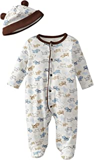 Boys' 2-Piece Footie & Cap Set
