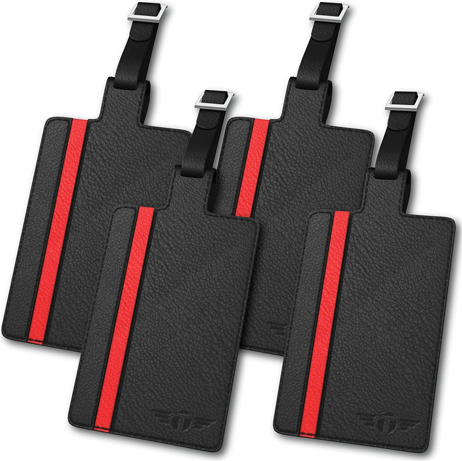 Talonport Real Leather Luggage Tag with 2021 Set for Low price Flap Men Privacy